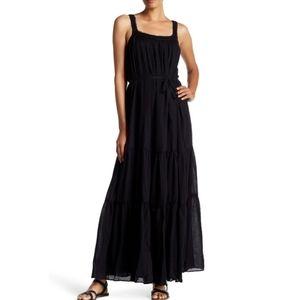 Joie Veracruz crochet Boho black maxi dress